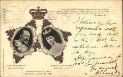 Portraits of King Edward VII & Queen Alexandra