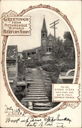 Old Stone Steps and St. Peter's Catholic Church