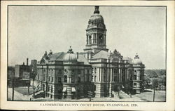 Vanderburg County Court House Postcard