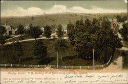Looking West from Congregational Church Postcard