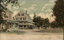 Main St. and Bingham Hotel Postcard