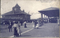 State Bath House, During Rush Hour