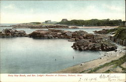 Forty Step Beach & Sen. Lodge's Mansion at Distance