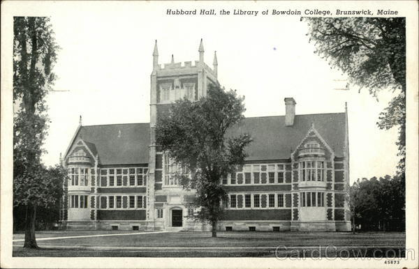 Hubbard Hall, The Library of Bowdoin College Brunswick Maine