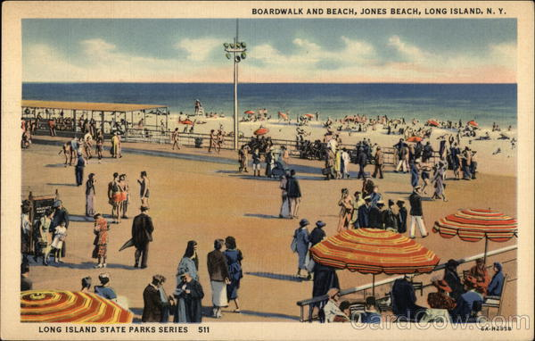 Boardwalk and Beach Jones Beach New York