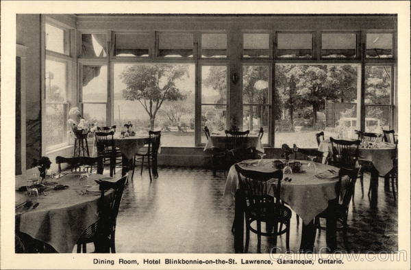 Dining Room, Hotel Blinkbonnie-on-the-St. Lawrence Gananoque Canada