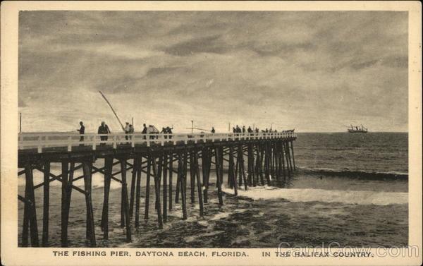 The fishing pier daytona beach florida in the halifax for Daytona beach fishing