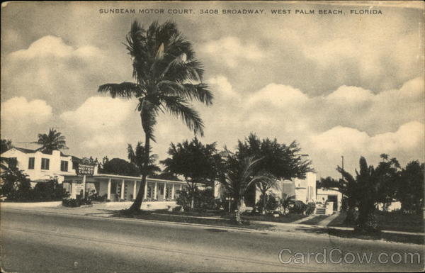 Sunbeam Motor Court West Palm Beach Florida