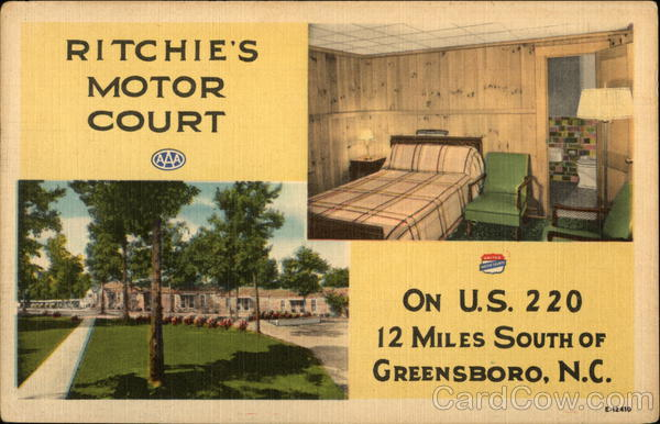 Ritchie's Motor Court Greensboro North Carolina