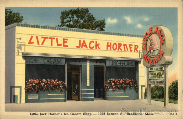 Little Jack Horner's Ice Cream Shop Brookline Massachusetts