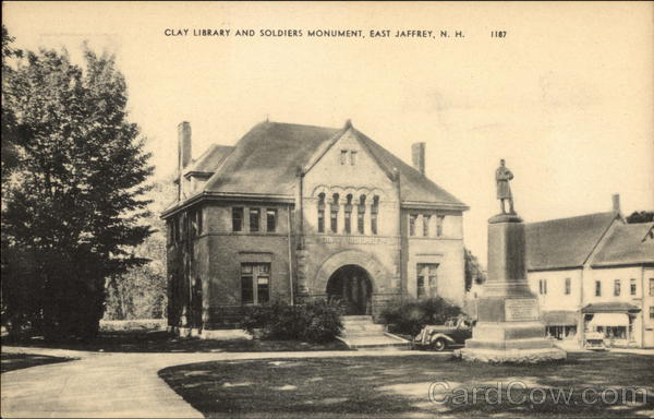 Clay Library and Soldiers Monument East Jaffrey New Hampshire
