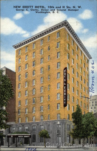 New Ebbitt Hotel Washington District of Columbia