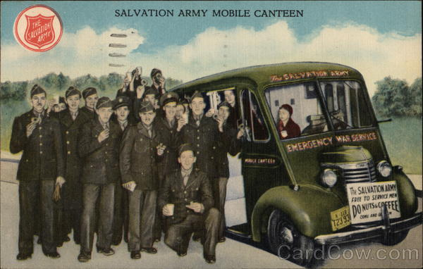 Salvation Army Mobile Canteen Evansville Indiana World War II