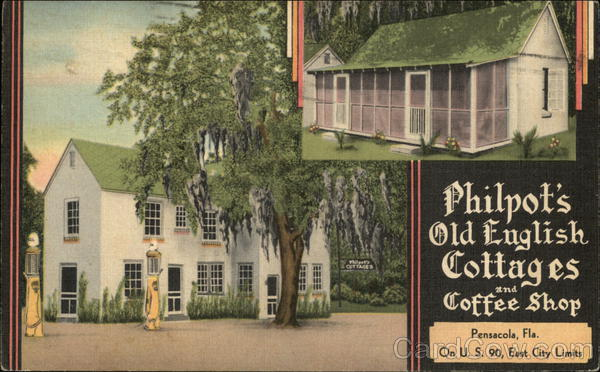 Philpot's Old English Cottages and Coffee Shop Pensacola Florida
