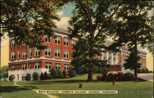 main building lambuth college jackson tn postcard