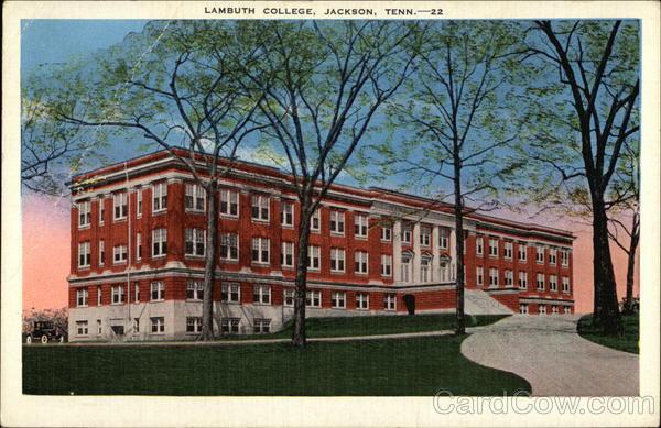 lambuth college jackson tn postcard