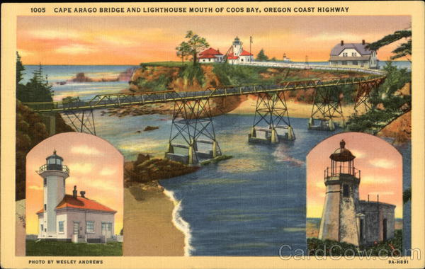 Cape Arago Bridge and Lighthouse Coos Bay Oregon Lighthouses