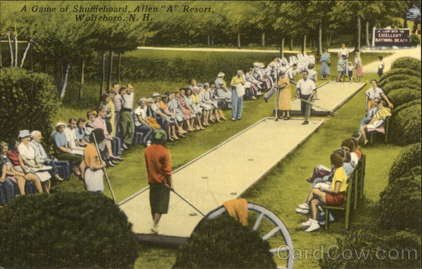 A Game of Shuffleboard, Allen A Resort Wolfeboro New Hampshire