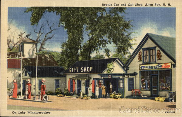 Reptile Zoo and Gift Shop, Gas Station Alton Bay New Hampshire