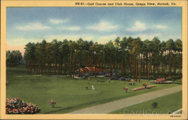 Golf Course and Club House, Ocean View Norfolk Virginia