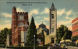 Tavern, First Congregational Church and Public Library