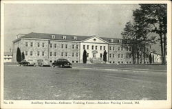 Auxiliary Barracks, Ordnance Training Center Postcard