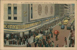 Scene Outside Radio City Music Hall