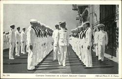 Captain's Inspection on a Giant Aircraft Carrier