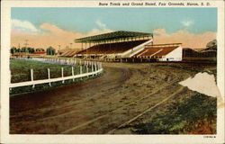 Race Track and Grand Stand, Fair Grounds