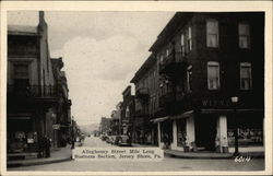 Allegheney Street. Mile Long Business Section Postcard