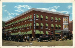 Arlington Hotel with Garage Postcard