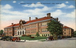 Central High School Looking Northwest Postcard