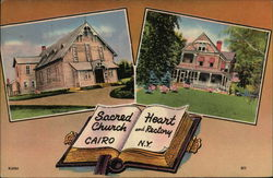 Sacred Heart Church and Rectory Postcard