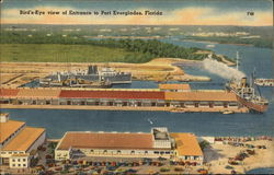 Bird's-Eye view of Entrance to Post Everglades, Florida