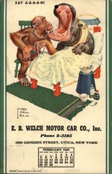 E. B. Welch Motro Car Co. Postcard