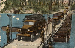 Crossing Pontoon Bridge in Maneuvers