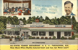 All-States Tourist Restaurant Postcard