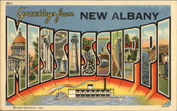 Greetings From New Albany Postcard