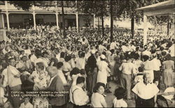 Typical Sunday Crowd in the Grove, Lake Compounce