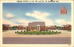 Circle Court on US 301 and US 70 Postcard