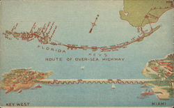 Map of Florida Over-Sea Highway