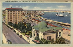 View of the Harbor and City Hall Postcard