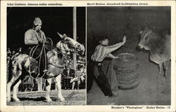 John Lindsey, Rodeo Comedian and Hoytt Hefner, Bullfighting Clown