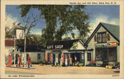Reptile Zoo and Gift Shop, Gas Station Postcard