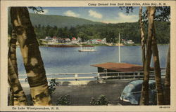 Campground From East Side Drive Postcard