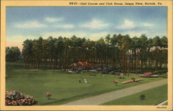 Golf Course and Club House, Ocean View Postcard