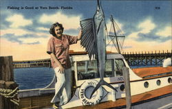 Woman and Sailfish