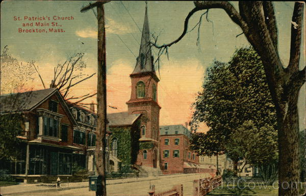 St. Patrick's Church and Main St. Brockton Massachusetts