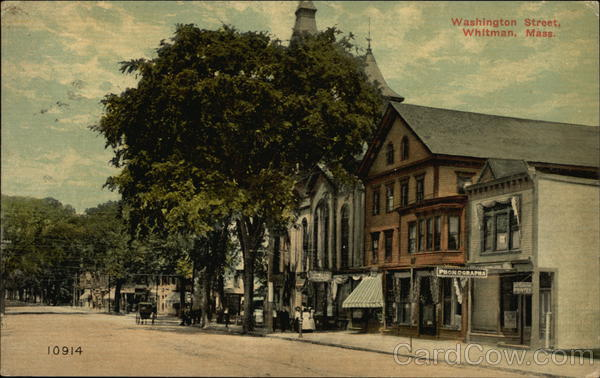 View of Washington Street Whitman Massachusetts