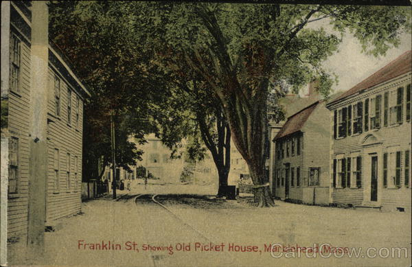 Franklin St., showing Old Picket House Marblehead Massachusetts